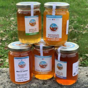 Gelées, marmelade, miel
