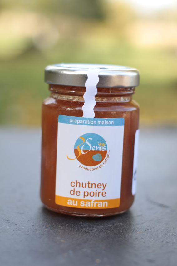 chutney de poires-safran