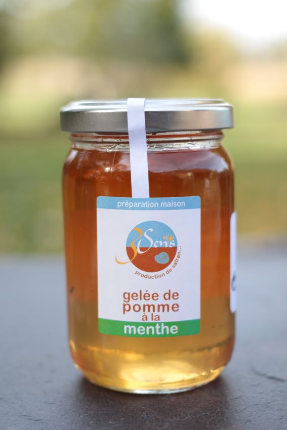 Gelée de pommes-menthe